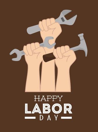 労働者の日のカードのデザイン、ベクター画像。  イラスト・ベクター素材