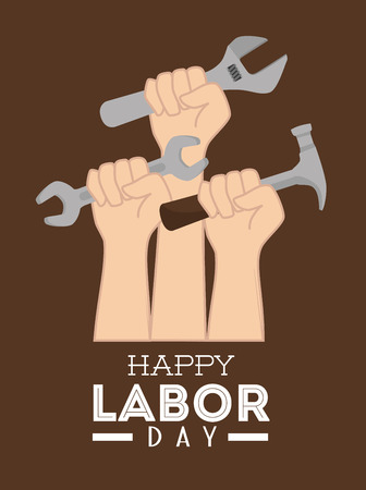 Labor day card design, vector illustration. Vector