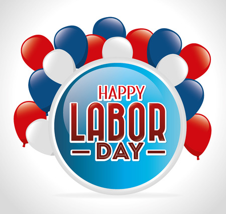 day to day: Labor day card design, vector illustration. Illustration