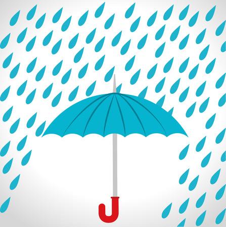 雨季设计,传染媒介例证。