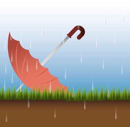 Rainy season design, vector illustration.