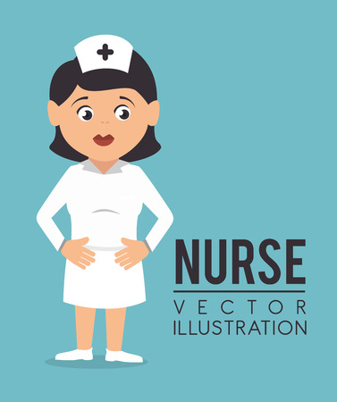 Medical design over blue background, vector illustration. Vector