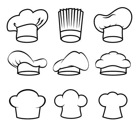 chef hat: Restaurant design over white background, vector illustration.