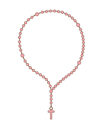 rosary: holy rosary design, vector illustration eps10 graphic