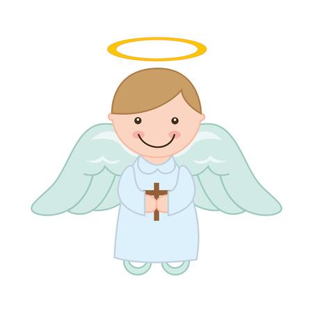 primera comunion: diseño lindo ángel, ejemplo gráfico del vector eps10 Vectores