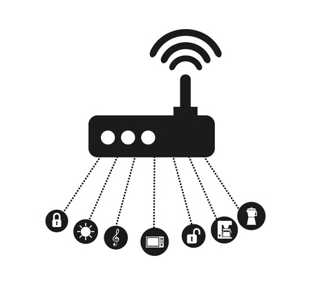 antena: smart house design, vector illustration eps10 graphic Illustration