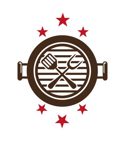 바베큐 아이콘 디자인, 벡터 일러스트 레이 션 eps10 그래픽