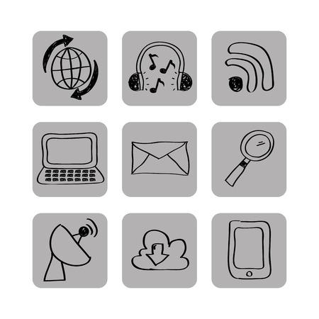 antena: social media design, vector illustration eps10 graphic