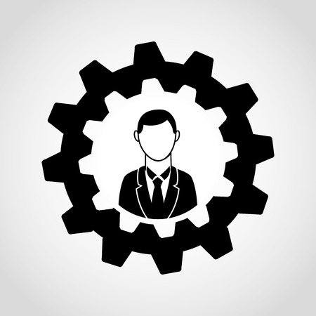 setup man: businessman icon design, vector illustration eps10 graphic