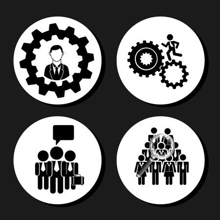 setup man: teamwork people design, vector illustration eps10 graphic Illustration