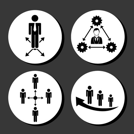 setup man: teamwork people design, vector illustration eps10 graphic Illustration