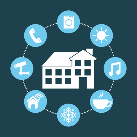 wather: smart house design, vector illustration eps10 graphic Illustration