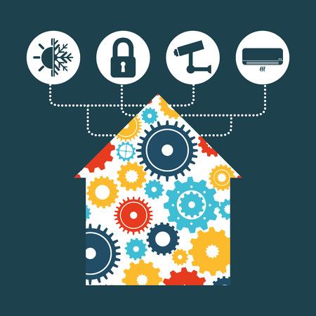 security lights: smart house design, vector illustration eps10 graphic Illustration