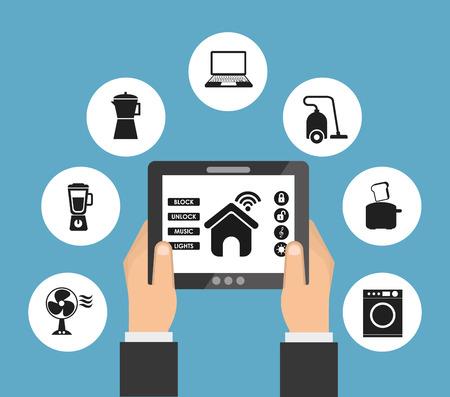 smart house design, vector illustration eps10 graphic Иллюстрация