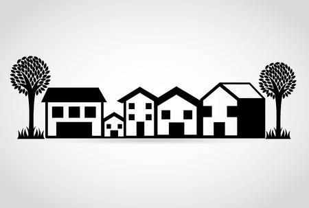 Immobilien Design, Vector Illustration eps10 Grafik Standard-Bild - 37898108