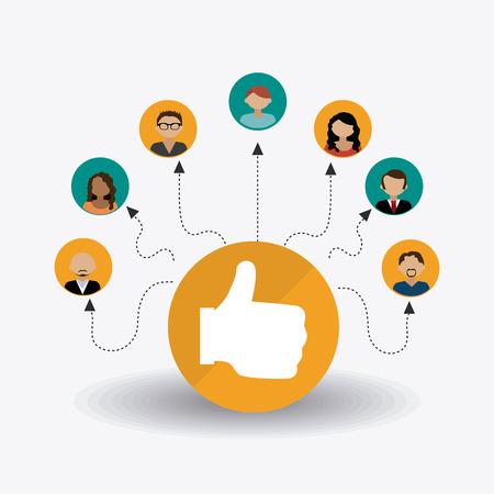 socializando: Diseño de medios de comunicación social, la ilustración vectorial.