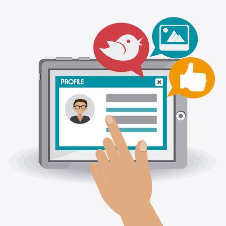 interaccion social: Diseño de medios de comunicación social, la ilustración vectorial.