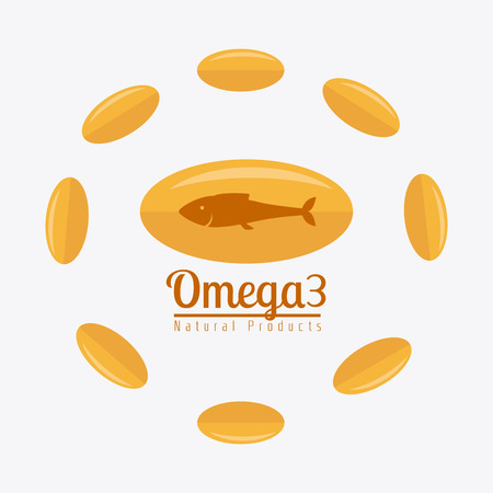 curative: Omega design over white background, vector illustration.