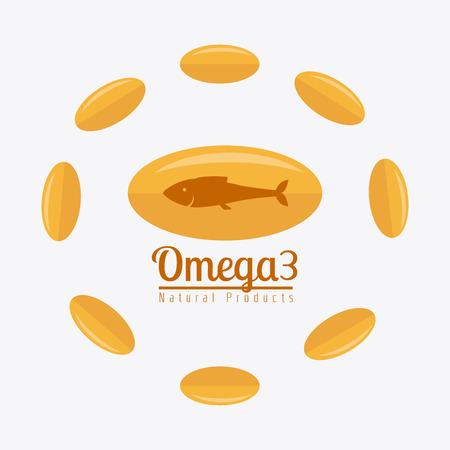 ailment: Omega design over white background, vector illustration.