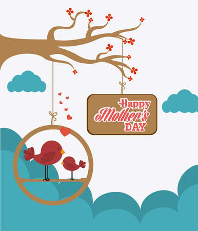 celebrate life: Happy mothers day card design, vector illustration.