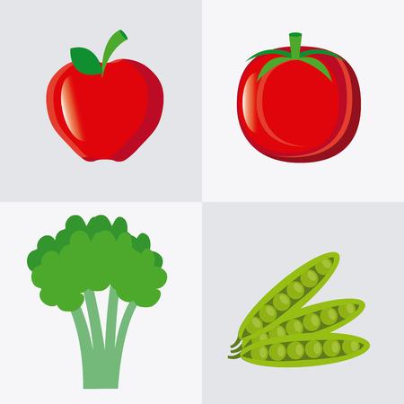 Food design over white background, vector illustration. Çizim