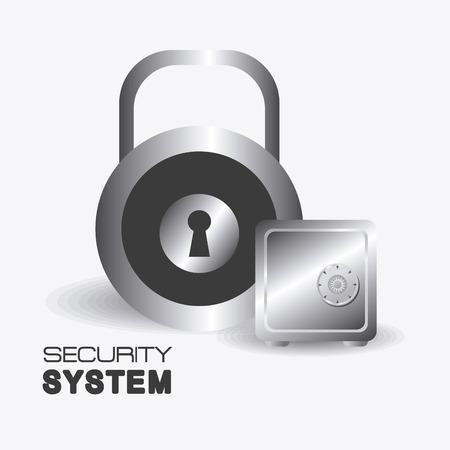 Security system design over white background, vector illustration. Illustration