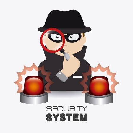 spyware: El dise�o del sistema de Seguridad sobre el fondo blanco, ilustraci�n vectorial.