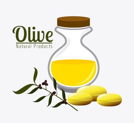 ailment: Olive oil design over white background, vector illustration. Illustration
