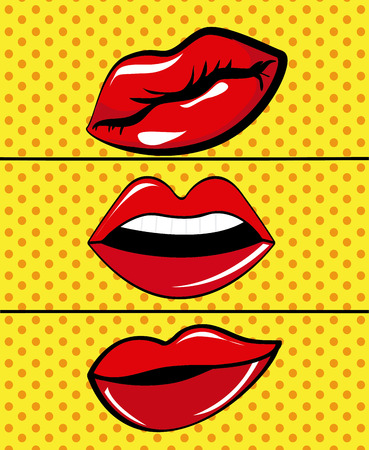vintage power: Comic pop art colorful design, vector illustration.