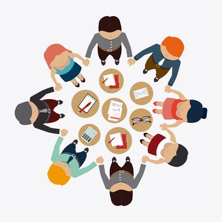 Human resources over white background design, vector illustration.