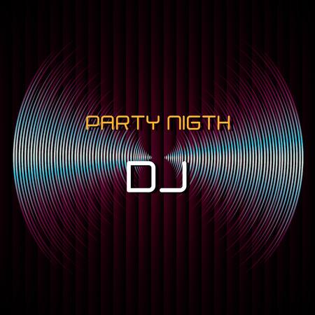 dj turntable: DJ design over black background, vector illustration. Illustration