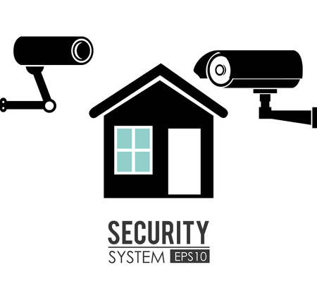 guard house: Security system over white background design, vector illustration.