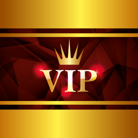yellow crown: VIP design over yellow crown background, vector illustration.