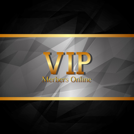 VIP design over black background, vector illustration. Ilustração
