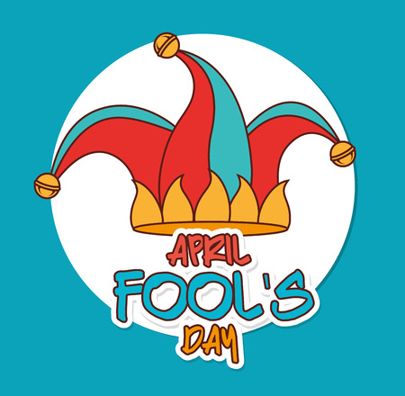 pranks: April fools day card design, vector illustration. Illustration