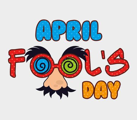 April fools day card design, vector illustration. Vector