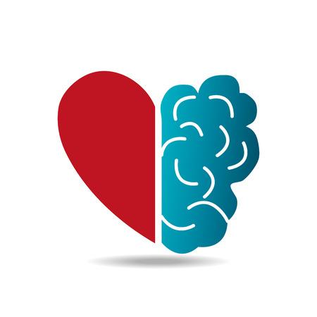 Conception de cerveau sur fond blanc, illustration vectorielle. Banque d'images - 38043410