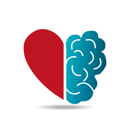 Brain design over white background, vector illustration.