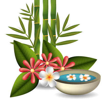 Spa design over white background, vector illustration.