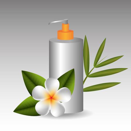 beauty therapist: Spa design over white background, vector illustration.