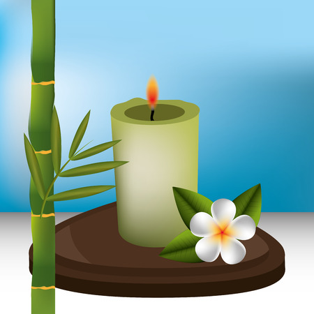 bodycare: Spa design over blue background, vector illustration.