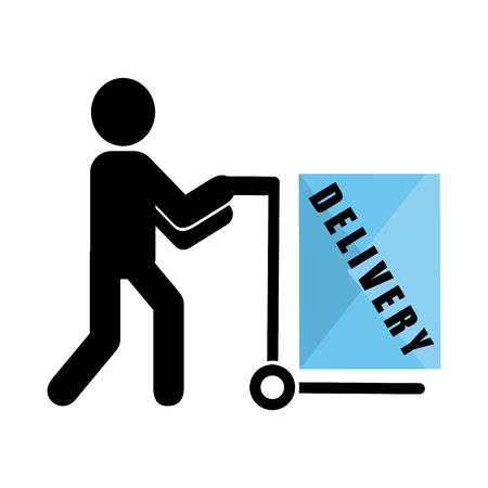 delivery service design. Ilustração