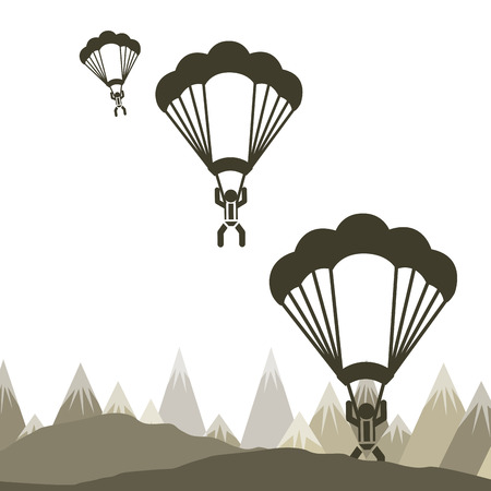 paratrooper: parachute fly design.