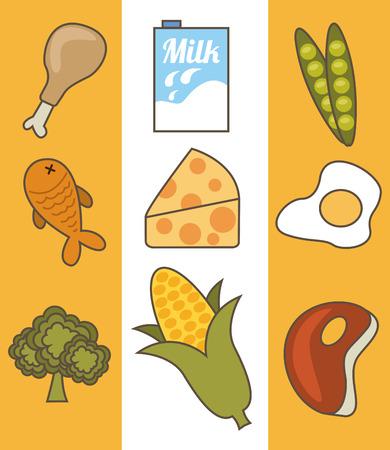 kids menu design. Illustration