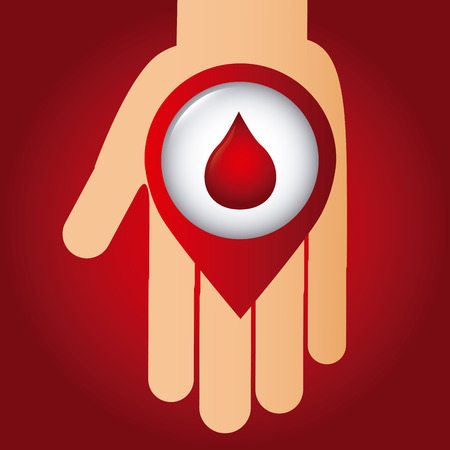 donor blood type: donate blood design.