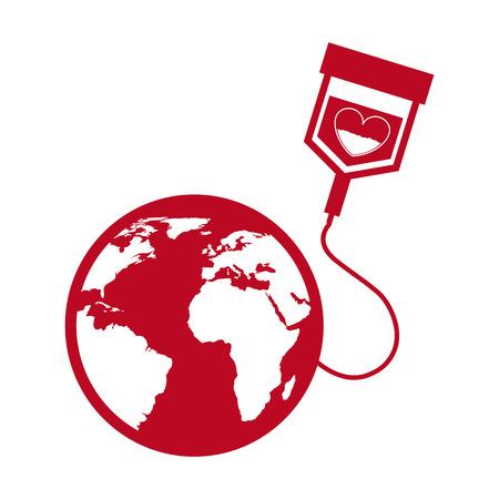 blood bag: donate blood design.