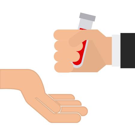 donate blood design. Vector