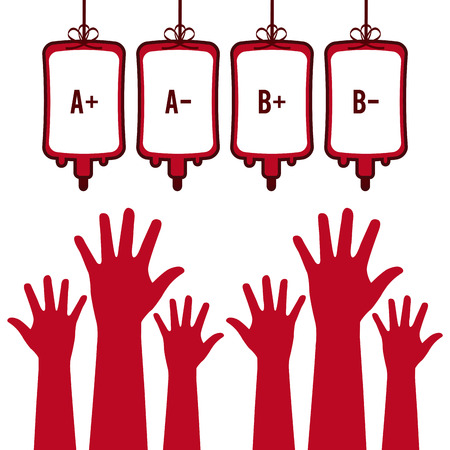 blood transfusion: donate blood design.