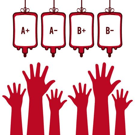 doneren van bloed ontwerp. Stock Illustratie