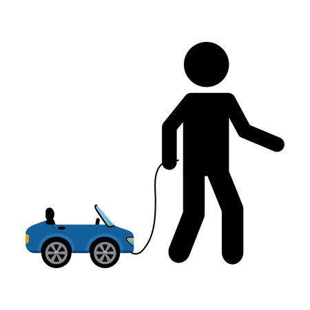 dealership: car concept design. Illustration